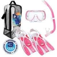 TUSA Sport Youth Mini-Kleio Hyperdry Mask, Snorkel, & Fins Travel Set