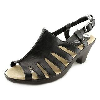 Easy Street Kacia Women WW Open-Toe Leather Slingback Sandal