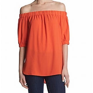 Michael Kors NEW Orange Women's Size Medium M Off Shoulder Blouse|https://ak1.ostkcdn.com/images/products/is/images/direct/a6f62a9b6da4e077e386fce0698e93d57e47e822/Michael-Kors-NEW-Orange-Women%27s-Size-Medium-M-Off-Shoulder-Blouse.jpg?impolicy=medium