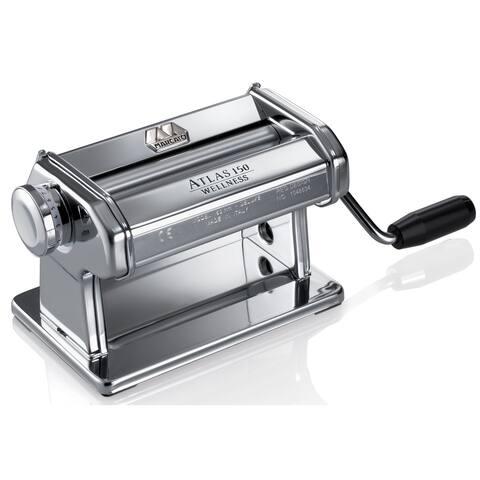 Marcato 8340 Atlas 150 Pasta Dough & Roller, Silver