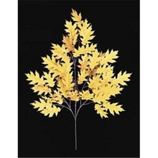 Autograph Foliages PR-4695 - 29 Inch Fire ant Pin Oak Branch - Gold - Dozen
