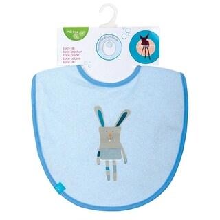 Lassig Baby Boys Solid Blue Bunny Medium Bib - One size