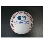 Signed Wilson CJ MLB Baseball in blue ink on the side panel autographed