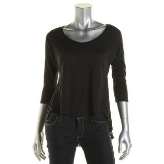 Jessica Simpson Womens Malery High-Low Crinkled Pullover Top - S