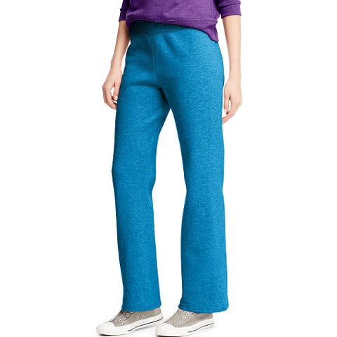 Hanes ComfortSoft ; EcoSmart® Women's Petite Open Leg Sweatpants - Size - M - Color - Deep Dive Heather