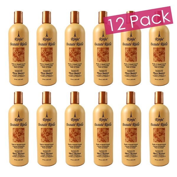 Rinju 12-Pack Beaute Reelle Body And Hand Lotion, 16 Ounces - Orange - N/A