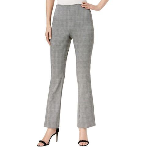 I-N-C Womens Plaid Bootleg Dress Pants