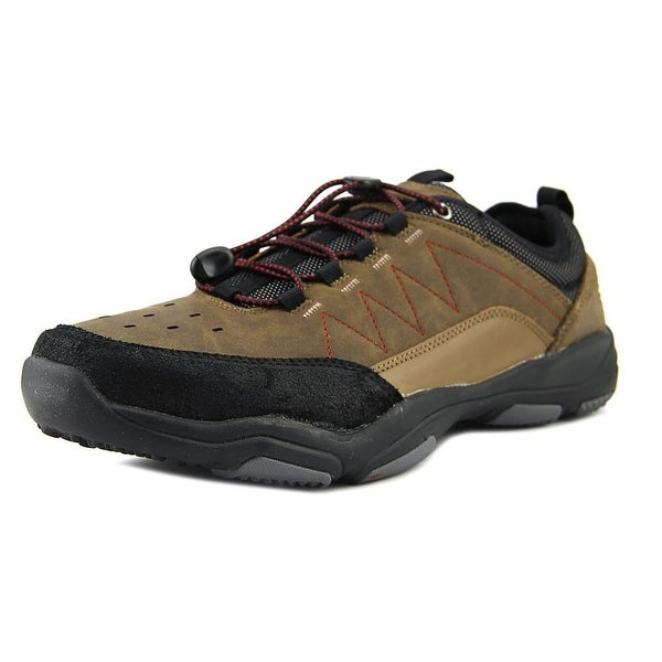 Skechers Larson Eleno Men Round Toe Leather Brown Sneakers