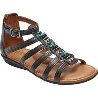 Rockport Women's Jamestown Gladiator Sandal Black Leather