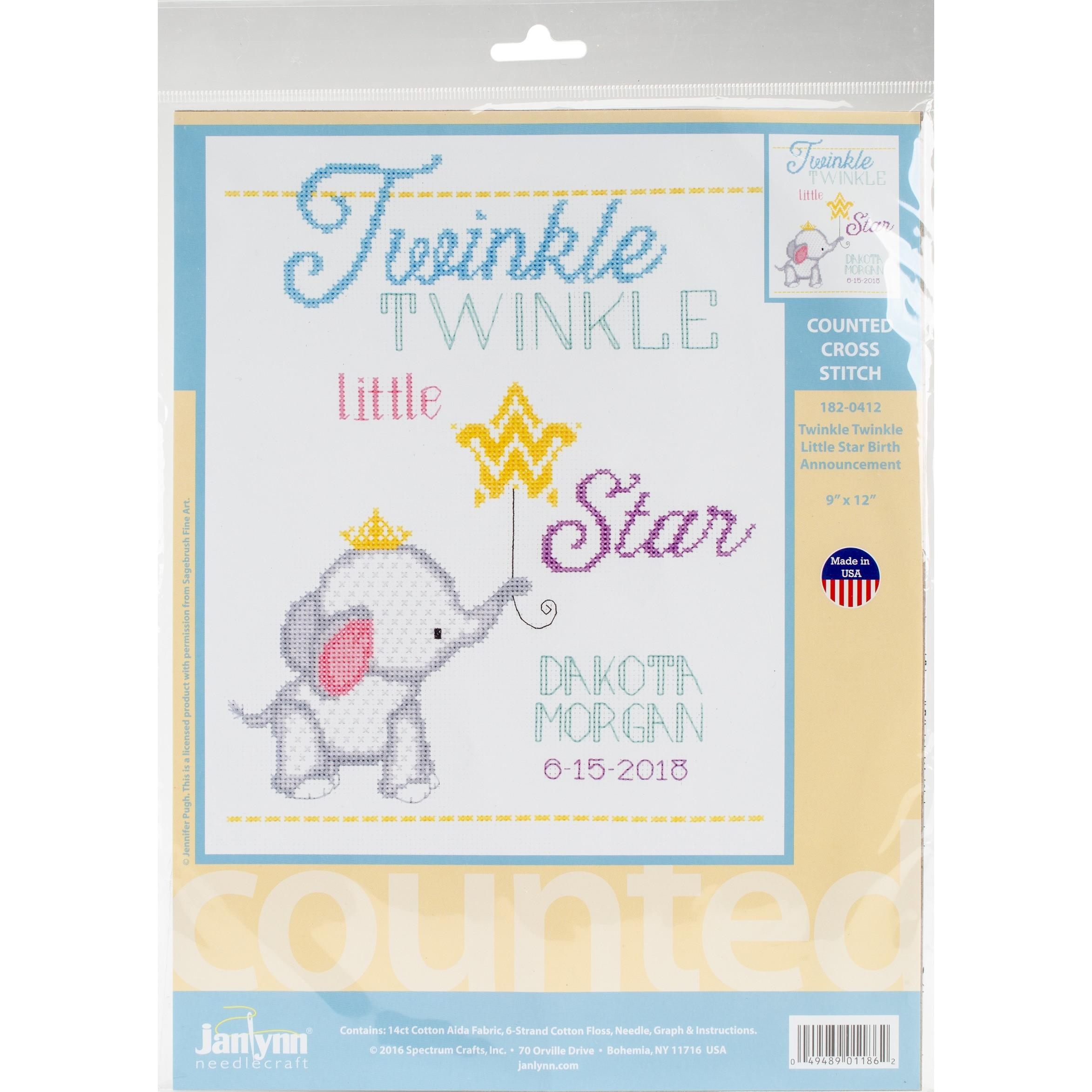 3-Inch Janlynn Kid Stitch 11 Count Doggie Mini Counted Cross Stitch Kit