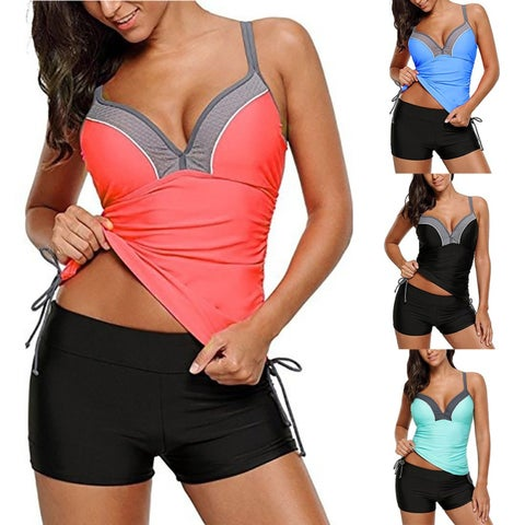 Women hot Push up Spaghetti Strap Bikini Set Split Swimsuit Beach Swimwear