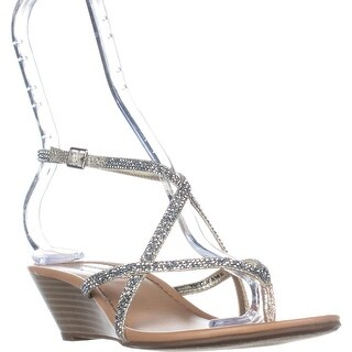 I35 Mayca2 T-Strap Wedge Sandals, Champagne