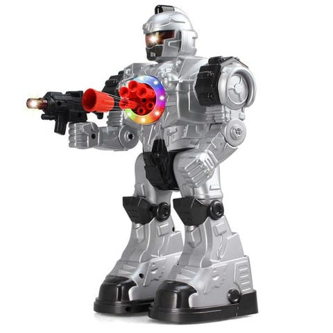 10CH RC Robot Police Toy (Silver)