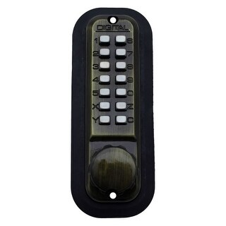 Lockey 2210DC Double Sided Adjustable Mechanical Deadbolt with Keyless Entry from the 2000 Series