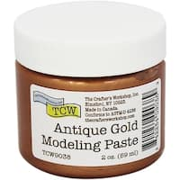 Crafter's Workshop Modeling Paste 2Oz-Antique Gold