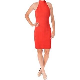 Lauren Ralph Lauren Womens Casual Dress Halter Mock Neck
