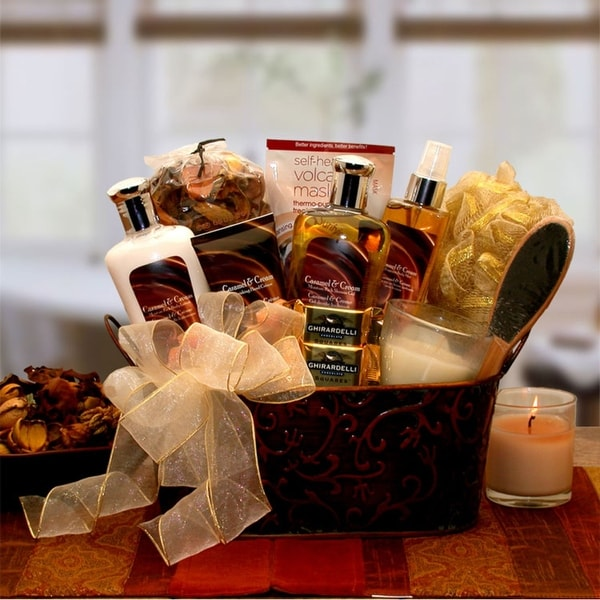 Caramel and Creme Bliss Spa Gift Basket. Opens flyout.