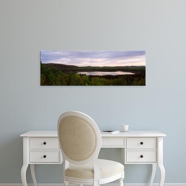 Easy Art Prints Panoramic Images's 'Lake at sunset, Minnesota, USA' Premium Canvas Art