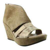 Cordani Womens Brown Open Toe Heels Size 6