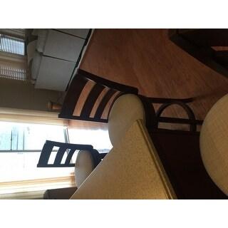 Verona Linen Ladder-back Swivel 29-inch High Back Bar Stool by iNSPIRE Q Classic