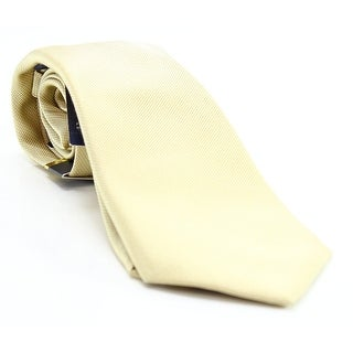 CLUB ROOM Gold Spartan Solid Classic Men's Silk Woven Neck Tie
