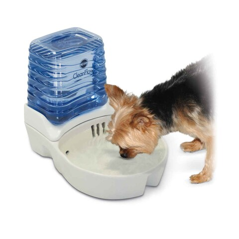 """K&H Pet Products CleanFlow Dog Ceramic Fountain with Reservoir 170 oz. Small Off-White 11.5"""" x 9"""" x 10.5"""""""