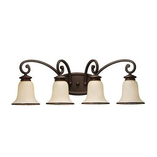 Sea Gull Lighting 44147-814 4-Light Wall Light Champagne Glass Misted Bronze