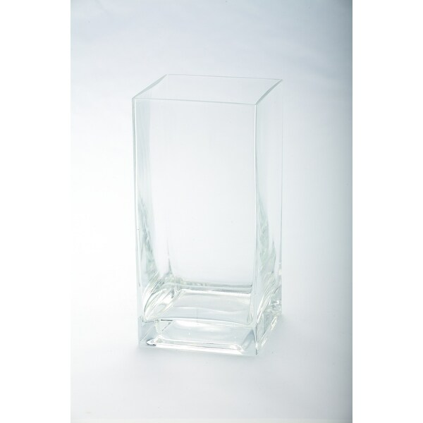 "8"" Transparent Clear Glass Pillar Candle Holder - N/A"