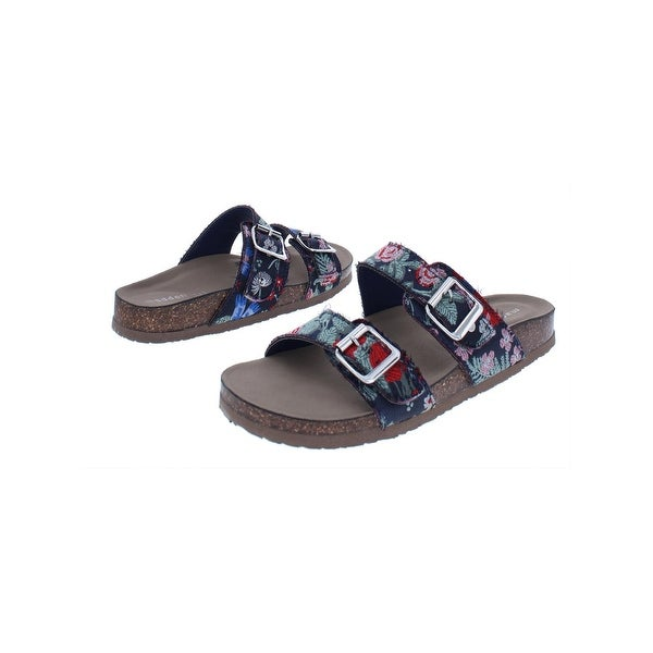 8d924baa1cc Shop Madden Girl Womens Brando Slide Sandals Buckle Cork - Free ...