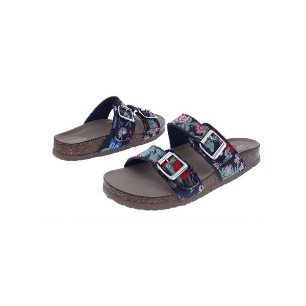 6d864aec0 Shop Madden Girl Womens Brando Slide Sandals Buckle Cork - Free ...