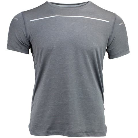 ASICS Lite-Show Sleeve Mens Top Athletic Short Sleeve Short Sleeve - Grey