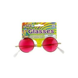 Forum Novelties Hippie Glasses (Pink) - Pink