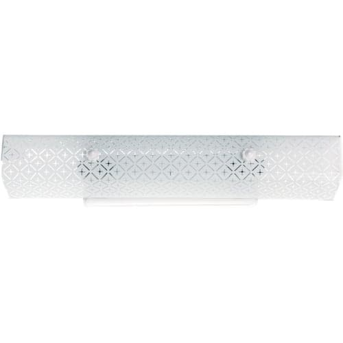 "Nuvo Lighting 76/277 Four Light 24"" Bathroom Fixture with Diamond ""U"" Channel Glass"