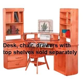 Computer Monitor Corner Shelf Unfinished Pine Renovator's Supply