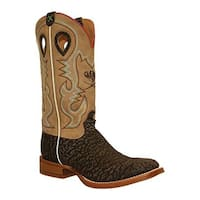 Twisted X Boots Men's MRS0052 Ruff Stock Cowboy Boot Crazy Horse Taupe Boar/Taupe