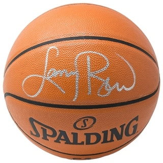 Larry Bird Boston Celtics Signed Spalding Replica Basketball BAS