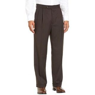 Ralph Lauren Total Comfort Double Pleated Dress Pants Dark Brown 38W x 30L - 38
