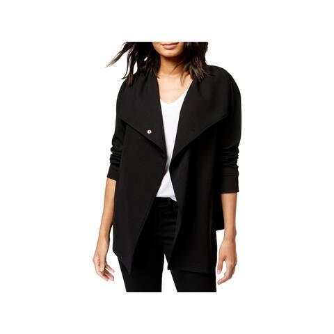Kensie Womens One-Button Blazer Textured Day To Night
