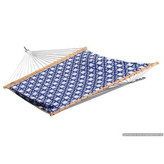 Quilted Fabric Hammock - Double (Nautical)