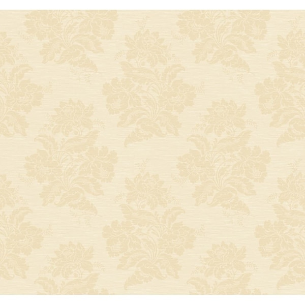 York Wallcoverings GN2490 Orange And Yellow Book Two Tone Damask Wallpaper