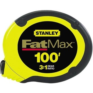 """Stanley 34-130 Fat Max Tape Measures, 3/8"""" x 100'"""