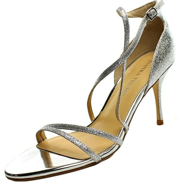 Ivanka Trump Garis 2 Women Open Toe Synthetic Silver Sandals