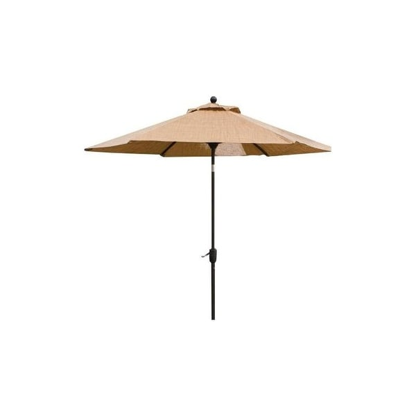 Hanover Outdoor MONACOUMB Table Umbrella for the Monaco Outdoor Dining Collection - sand