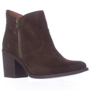 Steve Madden Pierce Side Zips Block Heel Ankle Boots - Olive