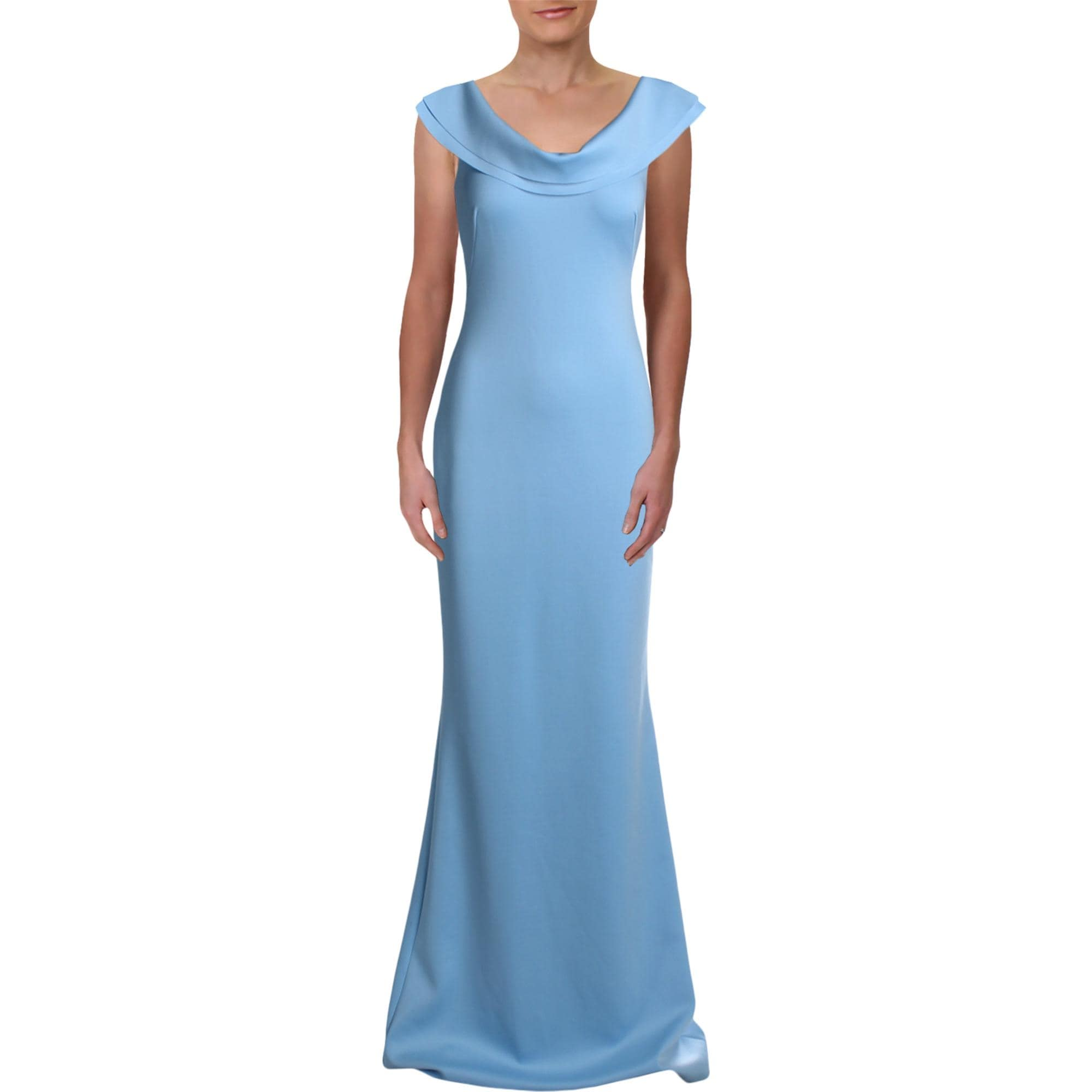 Black Halo Womens Patricia Evening Dress Off The Shoulder Full Length Blue Overstock 31589643