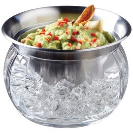 Prodyne IC-6 Stainless Steel Bowl And Dip Cup On Ice, 22 Oz