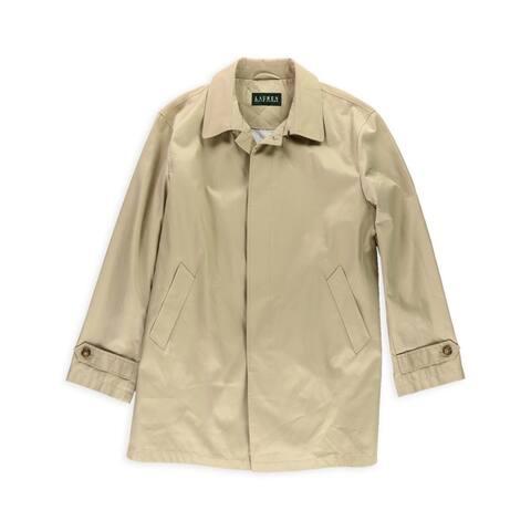 Ralph Lauren Mens Stanza Raincoat, Beige, 42 Short