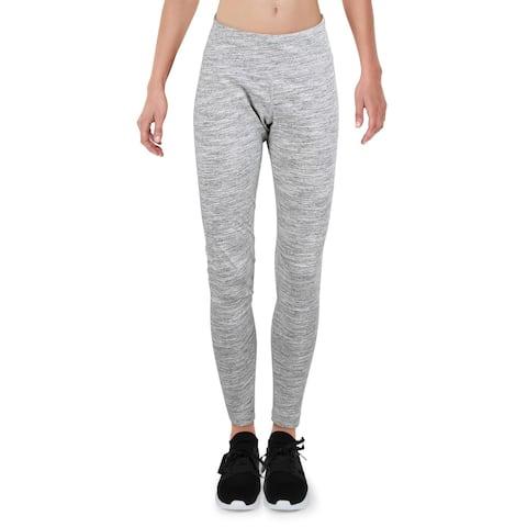 Reebok Womens Elements Marble Athletic Leggings Fitness Running - Medium Grey Heather - M