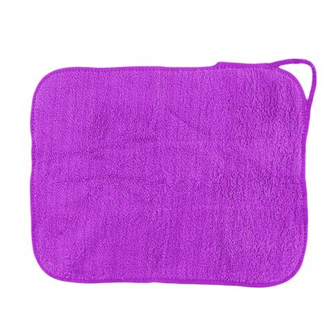 Dorm Microfiber Spoon Dining Table Dust Cleaning Towel Cloth Washcloth Purple