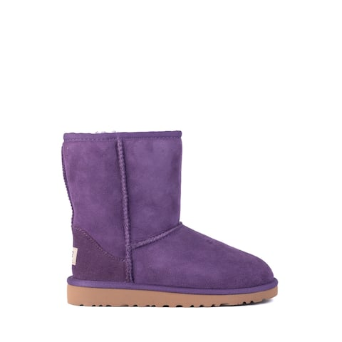 UGG Kids Girls Purple Berry Suede Classic Short Boots Size US2~RTL$150